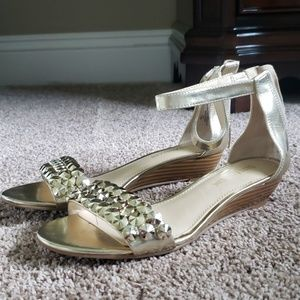 Enzo Angiolini gold sandals